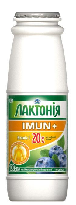 """Напій кисломолочний йогуртний """"Закваска"""" Чорниця 1,5% Лактонія Імун+"""
