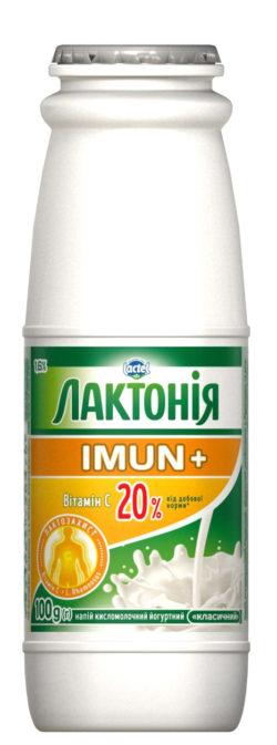 Напій кисломолочний йогуртний з пробіотиком і вітаміном С 1,6% Лактонія Імун+