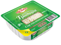 """Сир кисломолочний 9% Президент  """"Творожна традиція"""""""