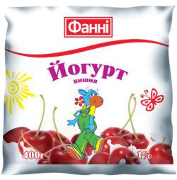 Йогурт питний 1% вишня