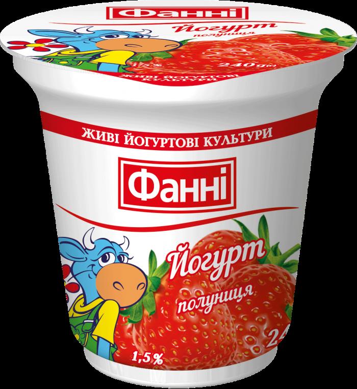Йогурт 1,5% з полуницею