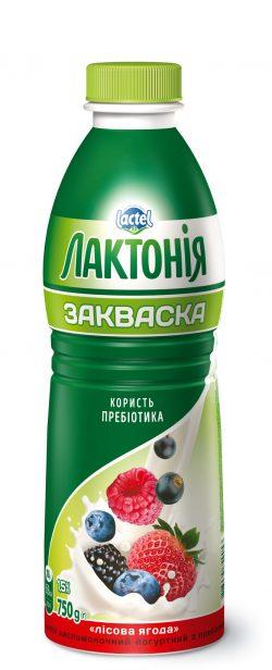 """Напій кисломолочний йогуртний  з лактулозою """"Закваска""""  Лісова Ягода 1,5%,  """"Лактонія"""""""