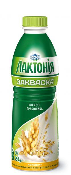 """Напій кисломолочний йогуртний  з лактулозою """"Закваска"""" Злаки 1,5%, """"Лактонія"""""""