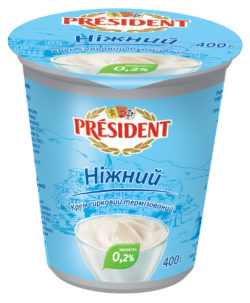 """Крем сирковий термізований 0,2% Президент """"Ніжний"""""""