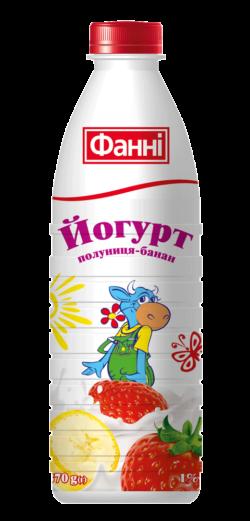 Йогурт питний 1% полуниця-банан Фанні