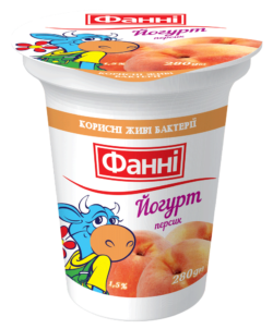 Йогурт 1,5% з персиком