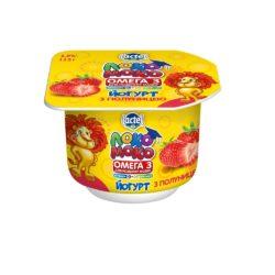 Йогурт 1,5% Локо Моко з полуницею, кальцієм, Омегою 3 та вітаміном Д3