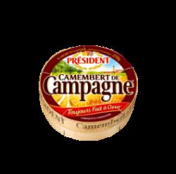 Сир м'який Камамбер де Кампань 45% Президент