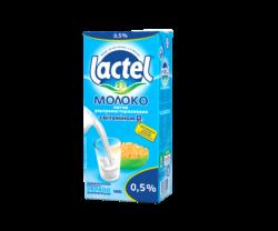 Молоко ультрапастеризоване Лактель з  вітаміном D3 нежирне