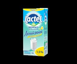 """Молоко низьколактозне ультрапастеризоване """"Легкий ранок"""" Лактель, 1,5%"""