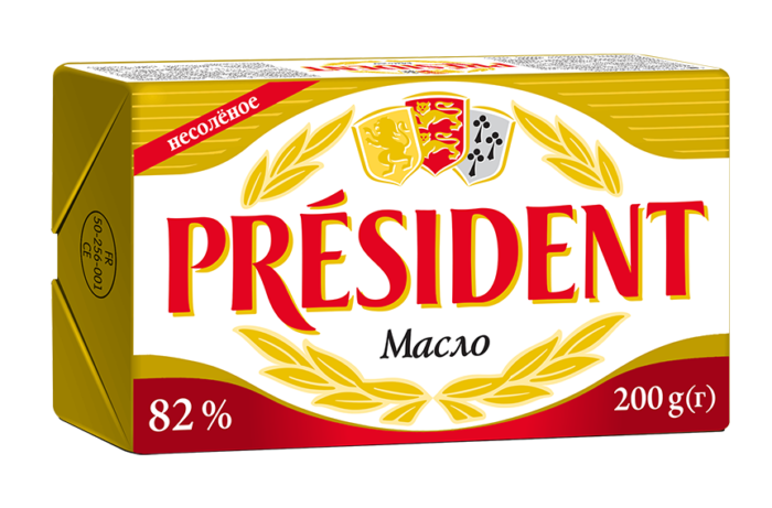 Масло кисловершкове 82% Президент
