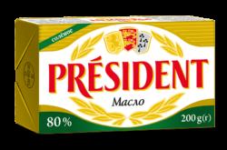Масло кисловершкове солоне 80% Президент