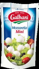 Сир свіжий Моцарела Міні 38% Гальбані