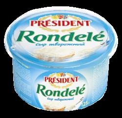 Сир м'який кисломолочний Ронделе 70% Президент