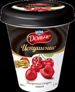 """Йогурт Десертний """"Искушение"""" 2,5% вишня Дольче"""