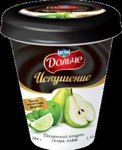 """Йогурт Десертний """"Искушение"""" 2,5% груша-лайм Дольче"""
