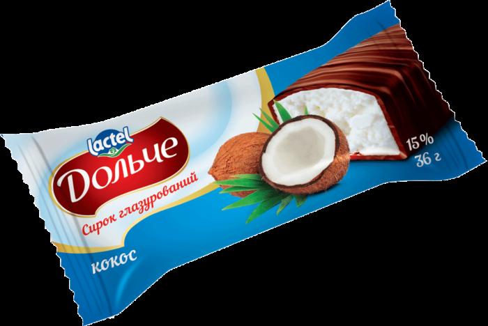 Сирок глазур.15% кокос Дольче