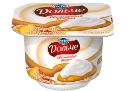 Йогурт 3,2% двошаровий персик-маракуйя Дольче