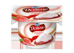 Йогурт 3,2% двошаровий полуниця Дольче