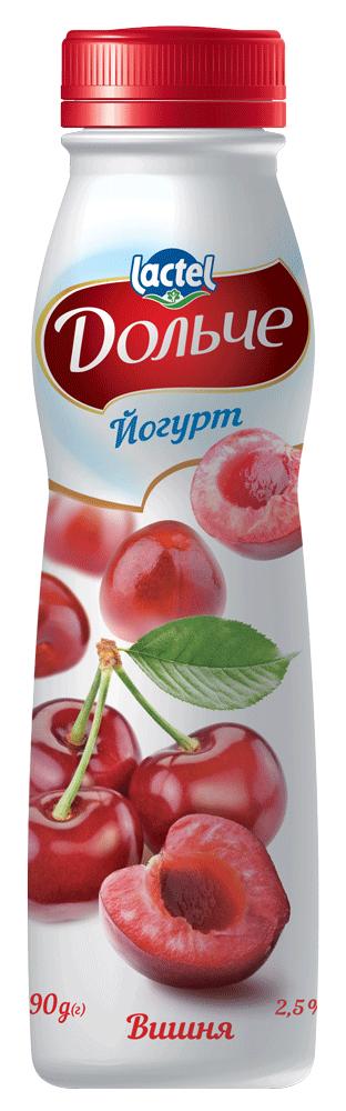Йогурт питний 2,5% з вишнею