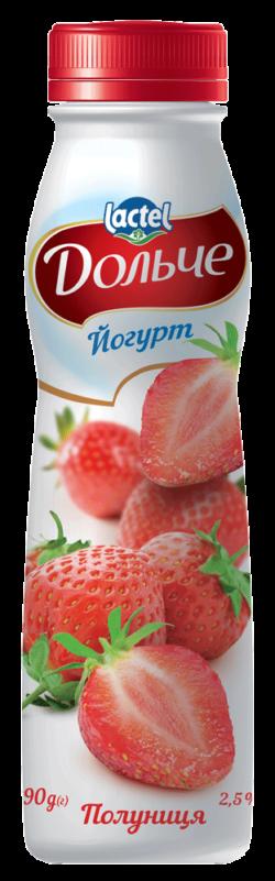 Йогурт питний 2,5% з полуницею