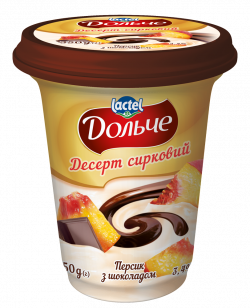 Десерт сирковий з шоколадною глазур`ю Персик