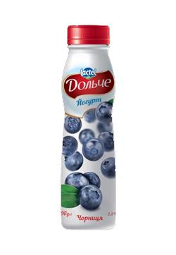 Йогурт питний 2,5% з Чорниця