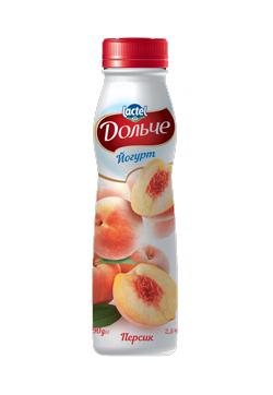 Йогурт питний 2,5% з Персик