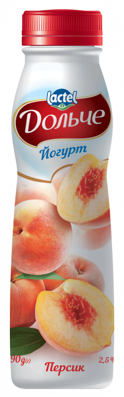 Drinkable yoghurt 2,5% Peach Dolce (bottle 0,290 kg)