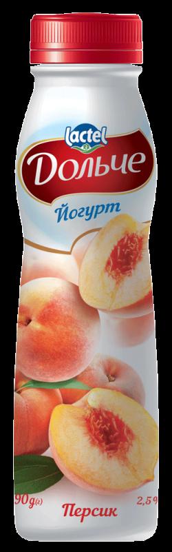 Drinkable yoghurt 2,5% Peach Dolce (bottle 0,290 kg)