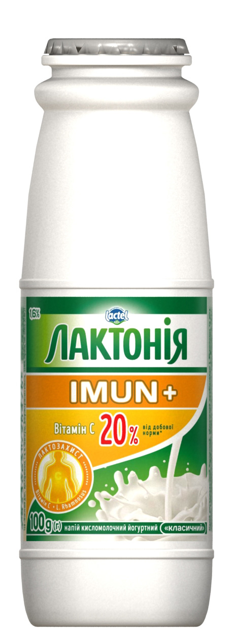 Dairy drink enriched with Vitamin C and prebiotic Rhamnosus  Lactonia Imun+