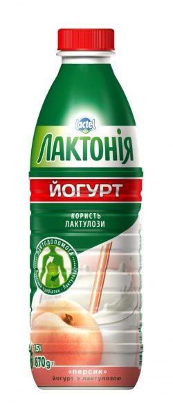 "Yogurt  Peach with lactulose"" 1,5%,  ""Lactonia"" (Bottle 0,870)"
