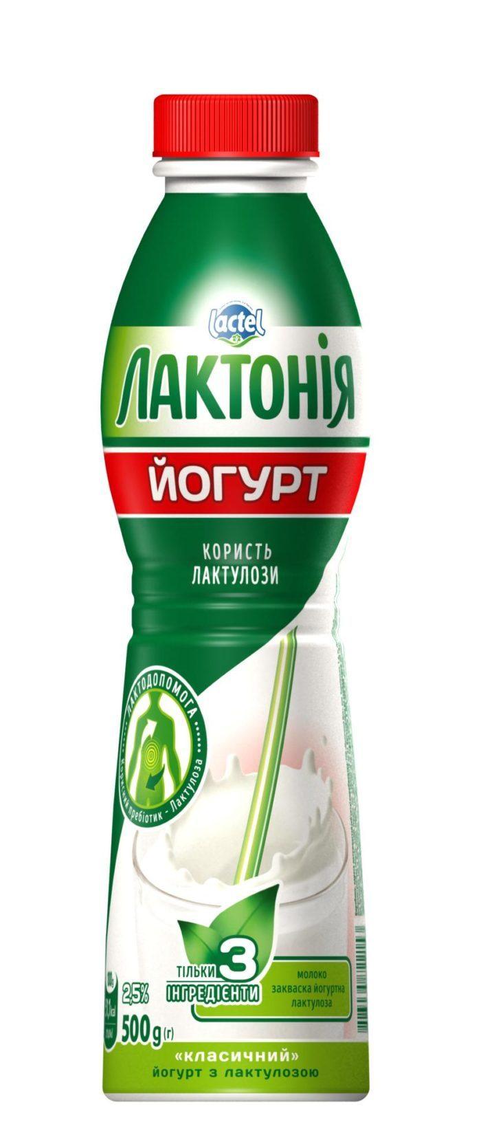 """Yogurt  with lactulose"""" 2,5%,  """"Lactonia"""" (Bottle 0,500)"""