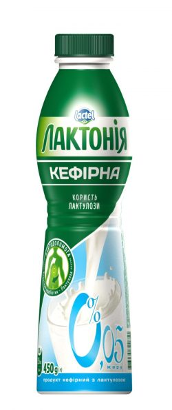 "Kefirnyi product with lactulose 0% non-fat ""Lactonia"" (Bottle  0,450)"