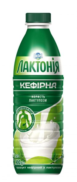 "Kefirnyi product with lactulose  2,5% ""Lactonia"" (Bottle  0,900)"