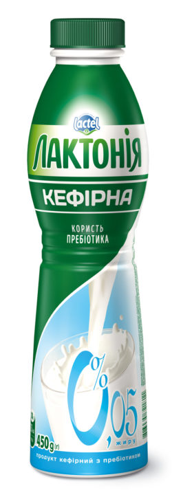 """Kefirnyi product with lactulose 0% non-fat """"Lactonia"""" (Bottle  0,450)"""