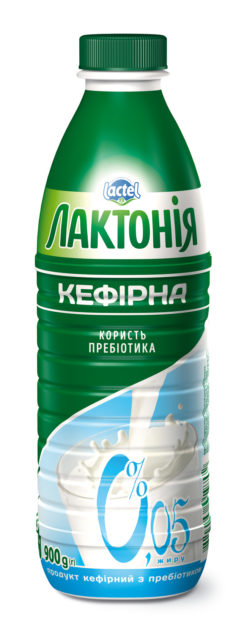 """Kefirnyi product with lactulose 0% non-fat """"Lactonia"""" (Bottle  0,900)"""