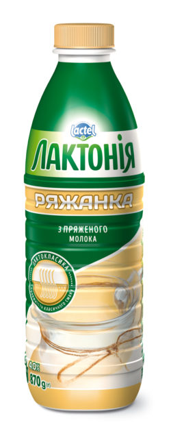 "Ryazhenka 4%,  ""Lactonia"" (Bottle 0,870)"