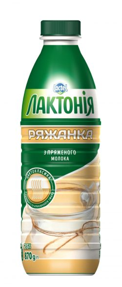 "Ryazhenka 2,5%,  ""Lactonia"" (Bottle 0,870)"