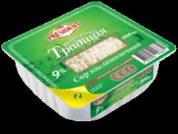 "Curd ""Tworozhna Tradicia"" President 9% (cup 0,200 kg)"