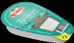 """Curd """"Tworozhna Tradicia"""" President 5% (bath 0,250 kg)"""
