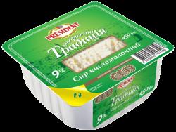 "Curd ""Tworozhna Tradicia"" President 9% (cup 0,450 kg)"