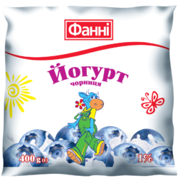 Drinkable yoghurt 1% Blueberry Fanni (0,400 kg)