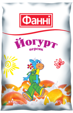 Drinkable yoghurt 1% Peach Fanni (0,870 kg)