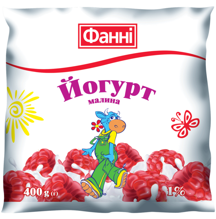Drinkable yoghurt 1% Raspberry Fanni (0,400 kg)