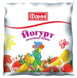 Drinkable yoghurt 1% Strawberry-Banana Fanni (0,400 kg)
