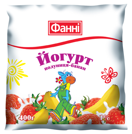 Drinkable yoghurt 1% Strawberry-Banana Fanni (0,400 kg)