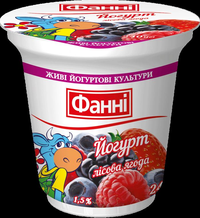 Yoghurt 1,5% Wild Berry (cup 0,240 kg)