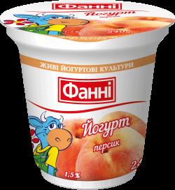 Yoghurt 1,5% Peach Fanni (cup 0,240 kg)