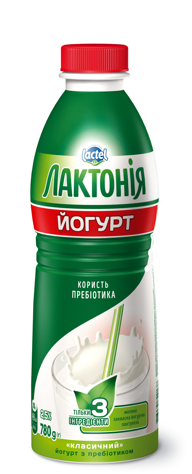 """Yogurt  with lactulose"""" 2,5%,  """"Lactonia"""" (Bottle 0,780)"""